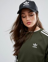 adidas Crackled Leather Logo Cap