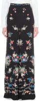 Vilshenko Adele floral-print silk maxi skirt