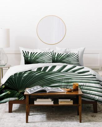 Deny Designs Mareike Boehmer Palm Leaves 13 Duvet Cover Set