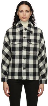 Ami Alexandre Mattiussi Black and White Wool Check Lumberjack Jacket