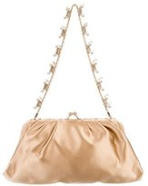 Valentino Crystal-Embellished Satin Evening Bag