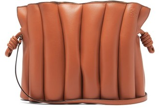 Loewe Flamenco Ondas Leather Cross-body Bag - Tan