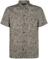 AllSaints Apex Printed Shirt, Brown, M