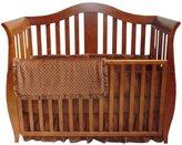 American Baby Company Heavenly Soft 3 pc Minky Dot Mini Crib Set - Chocolate