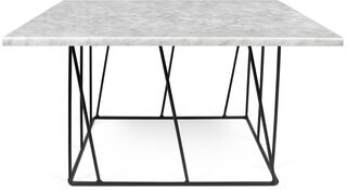 Brayden Studio Sligh Coffee Table Base Color: Black Lacquered Steel, Top Color: White Marble