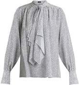 Joseph Cora tie-neck floral-print silk blouse