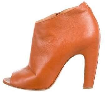 Maison Margiela Leather Open-Toe Boots