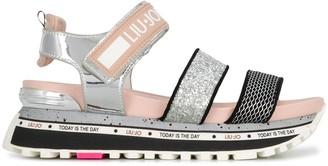 Liu Jo Glitter-Detail Platform Sandals