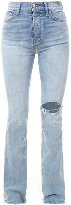 Amiri Ripped Flared Jeans