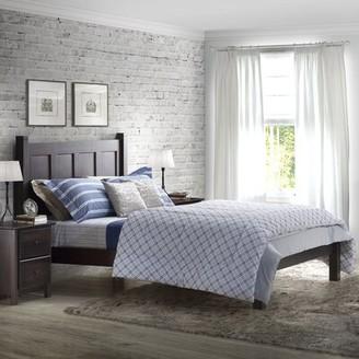 Shaker Platform Bed Grain Wood Furniture Color: Cherry, Size: Full
