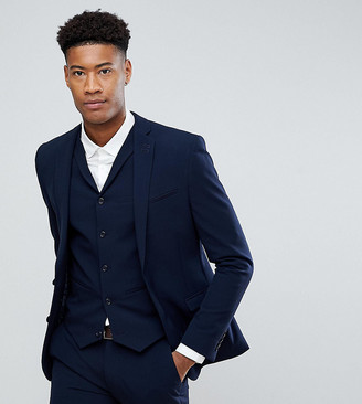 ASOS DESIGN Tall super skinny fit suit jacket in navy