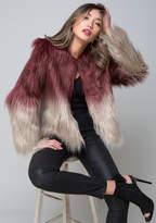 Bebe Ombre Faux Fur Jacket