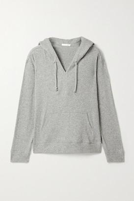 Skin Nirvana Ribbed-knit Hoodie - Gray