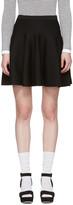 Carven Black Knit Miniskirt