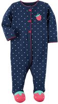 Carter's Baby Girl Polka-Dot Strawberry Sleep & Play