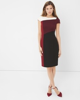 White House Black Market Colorblock Sheath Dress