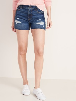 Old Navy High-Waisted Distressed Jean Shorts for Women - 3.5-inch inseam
