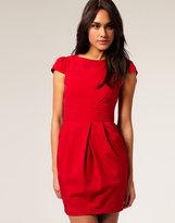 ASOS Tulip Dress with Pleat Waist