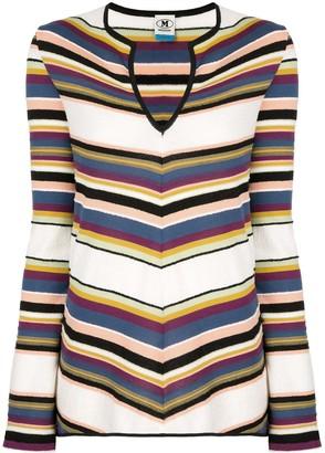 M Missoni striped V-neck jumper