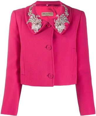 Emilio Pucci embellished collar cropped jacket