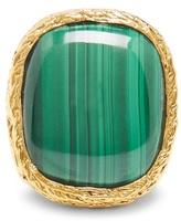 Aurelie Bidermann Miki malachite & gold-plated ring