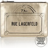 Karl Lagerfeld Rue Lagerfeld Pouch Bag -Gold