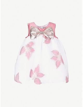 Hucklebones London Floral-print crepe trapeze dress 6-36 months