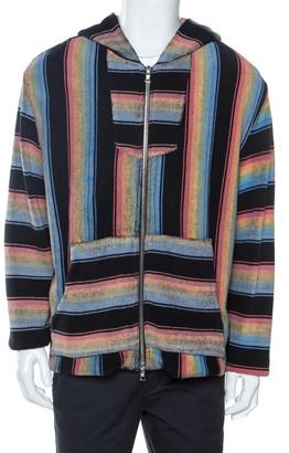 Amiri Multicolor Striped Cotton Zip Front Baja Hoodie M