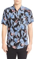 Imperial Motion 'Alta' Floral & Leaf Print Short Sleeve Woven Shirt