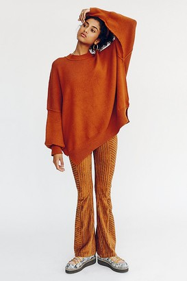 Free People Slim Pull-On Velvet Flare Pants