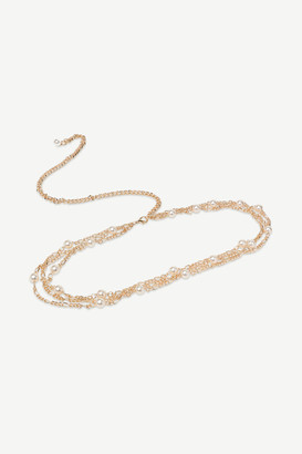 Ardene Faux Pearl Chain Belt