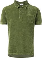 Closed short sleeve polo shirt with pocket