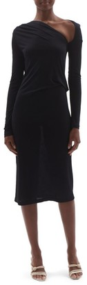 Helmut Lang Long-Sleeve Jersey Sheath Dress
