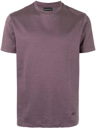 Emporio Armani geometric-pattern cotton T-shirt