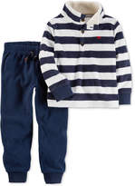 Carter's 2-Pc. Striped Fleece Top and Jogger Pants Set, Baby Boys (0-24 months)