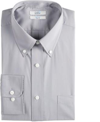 Croft & Barrow Men's Slim-Fit Easy Care Button-Down Collar Dress Shirt