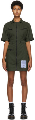 McQ Green Military Shirt Dress
