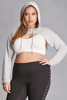 Forever 21 FOREVER 21+ Plus Size Hooded Crop Top