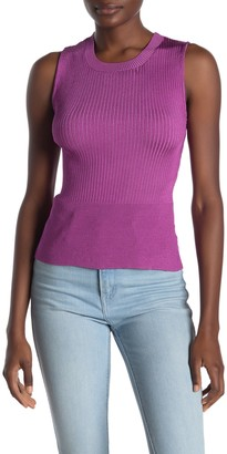 Rachel Roy Carmella Criss-Cross Rib Knit Tank Top