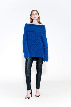 Yigal Azrouel Mohair Off The Shoulder Sweater