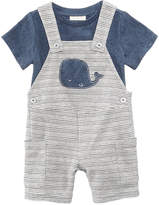 First Impressions 2-Pc. T-Shirt & Whale Overall Set, Baby Boys, Created for Macy's