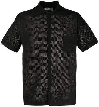 Cmmn Swdn short-sleeve embroidered shirt
