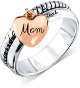 "Unwritten Sterling Silver Two-Tone ""Mom"" Charm Ring"