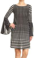 Ariella Print Bell-Sleeve Dress