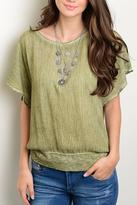 Honeybelle honey belle Olive Wash Top