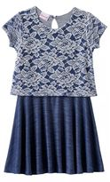 Nannette Floral Lace Dress - Toddler Girl