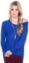 Feel The Piece Cashmere Split Sweater in Indako