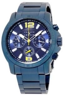 Joseph Abboud Men's Analog Blue Stainless Steel Bracelet Watch 28mm