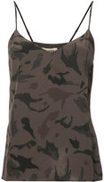 L'Agence camouflage print camisole