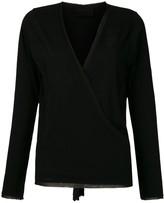 Andrea Bogosian silk wrap blouse